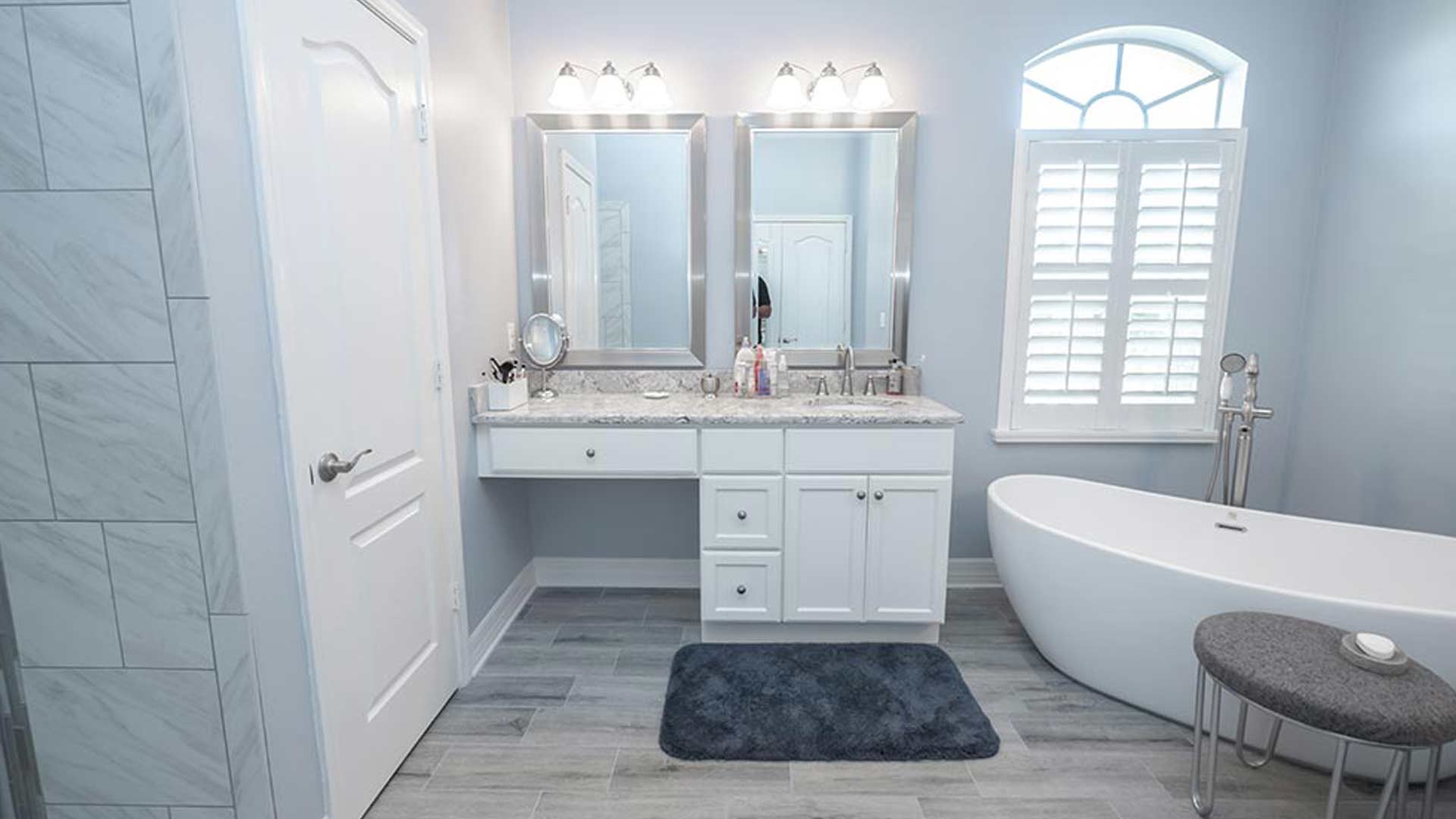 The Bauer Family's Remodeled Bathroom in Wesley Chapel, FL