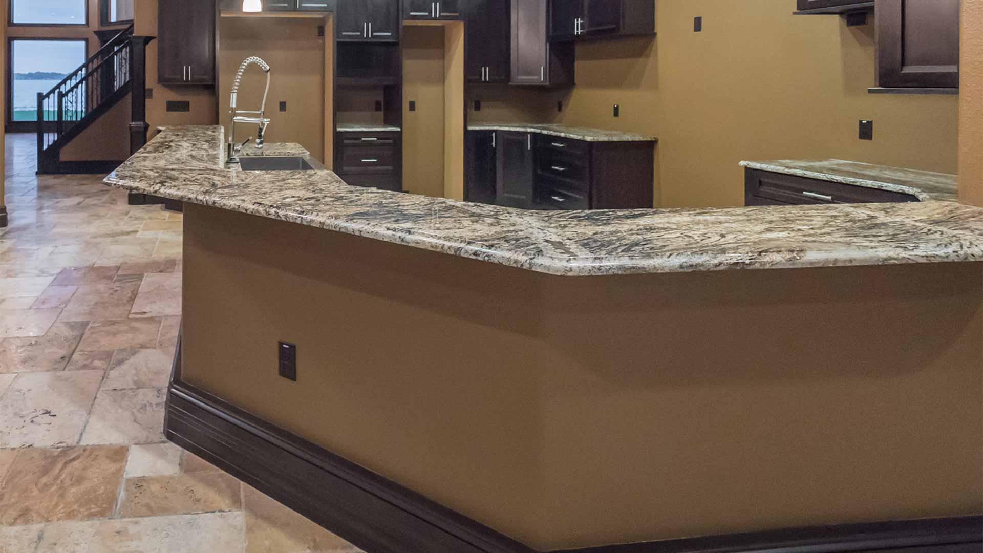 Custom marble kitchen countertops installed in Plant City, FL.