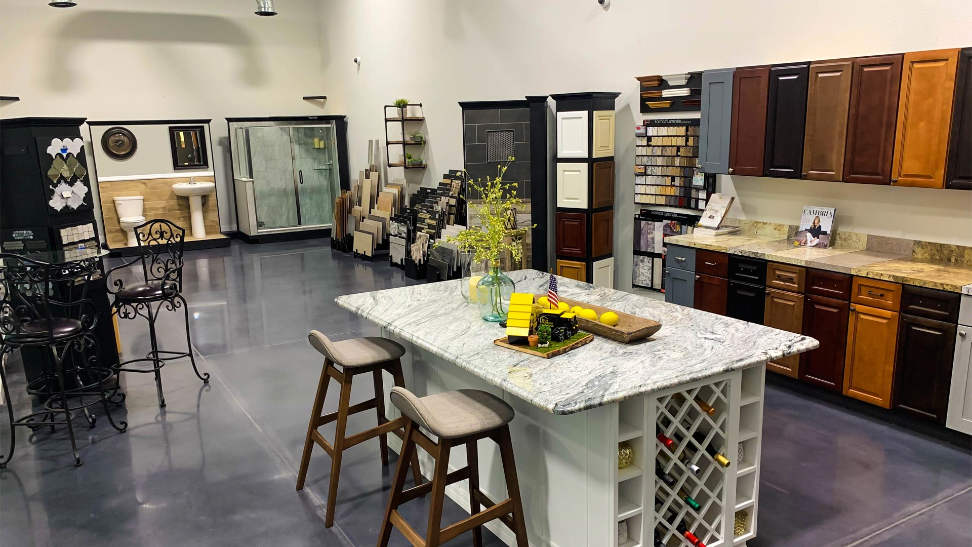 True Builders consultation showroom at their location in Plant City, FL.