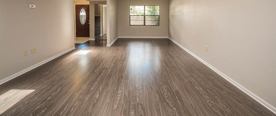 Hardwood flooring installed by True Builders for a condo remodel project in Lakeland, FL.