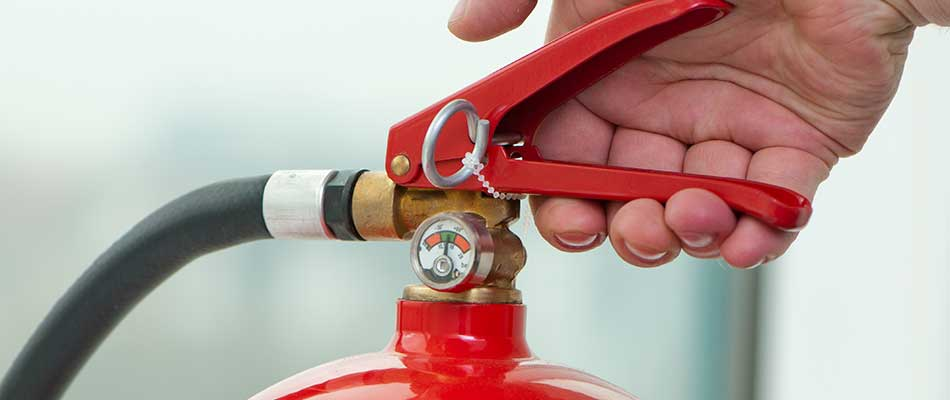 Fire extinguishers should be a part of your business fire safety plan in Lakeland.