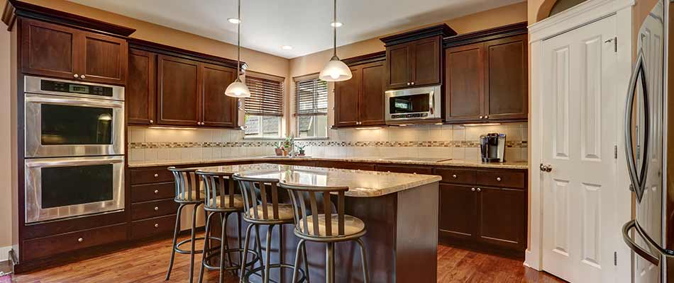 Example of a kitchen that has been newly remodeled in New Tampa, FL.