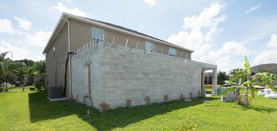 Room addition to back of home in Plant City, FL.