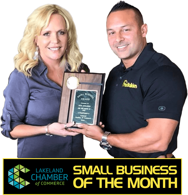 Winner of Lakeland's Small Business of the Month Award