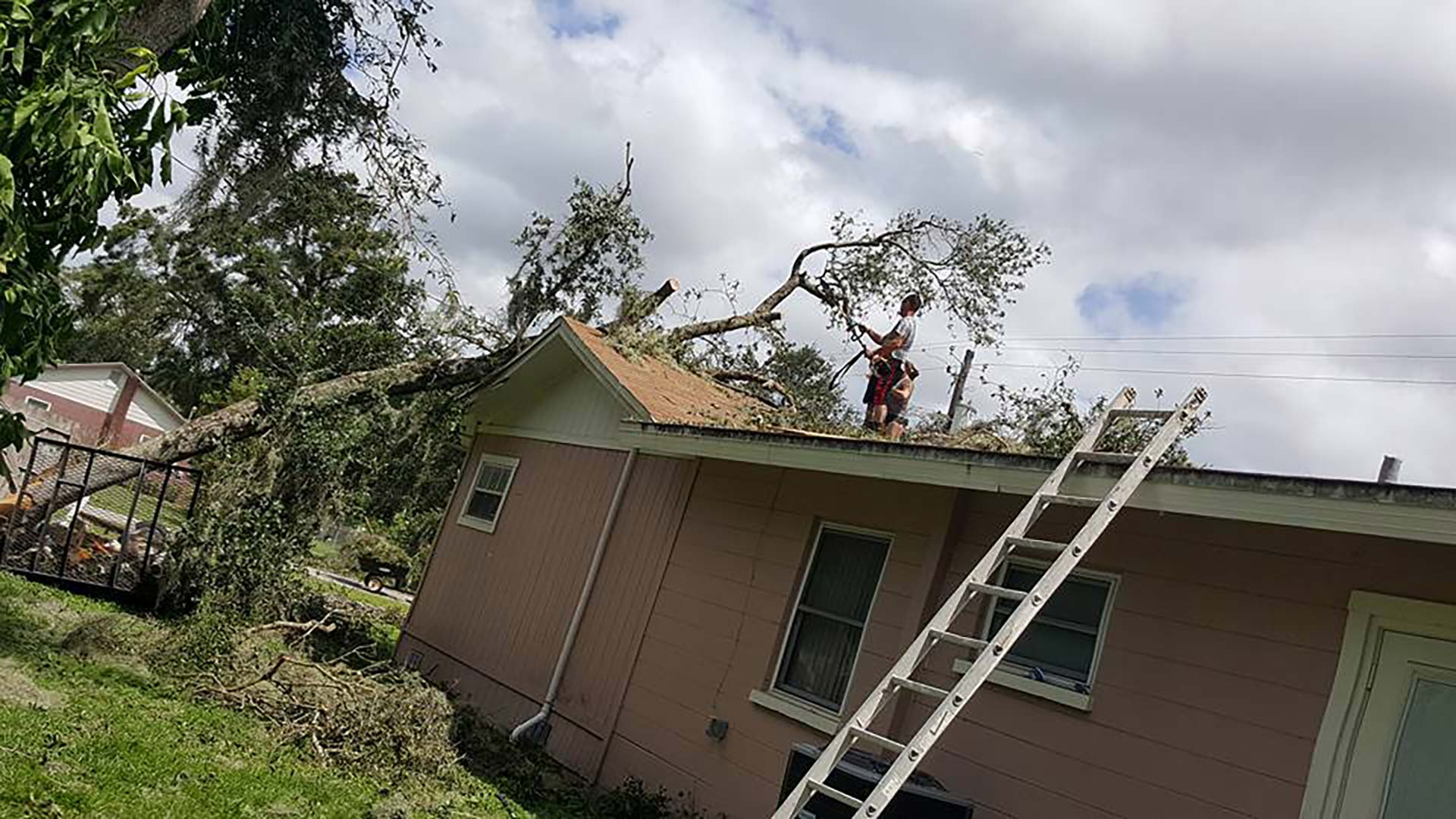 Tree Fell Through the Hunsberger's Home During Hurricane Irma