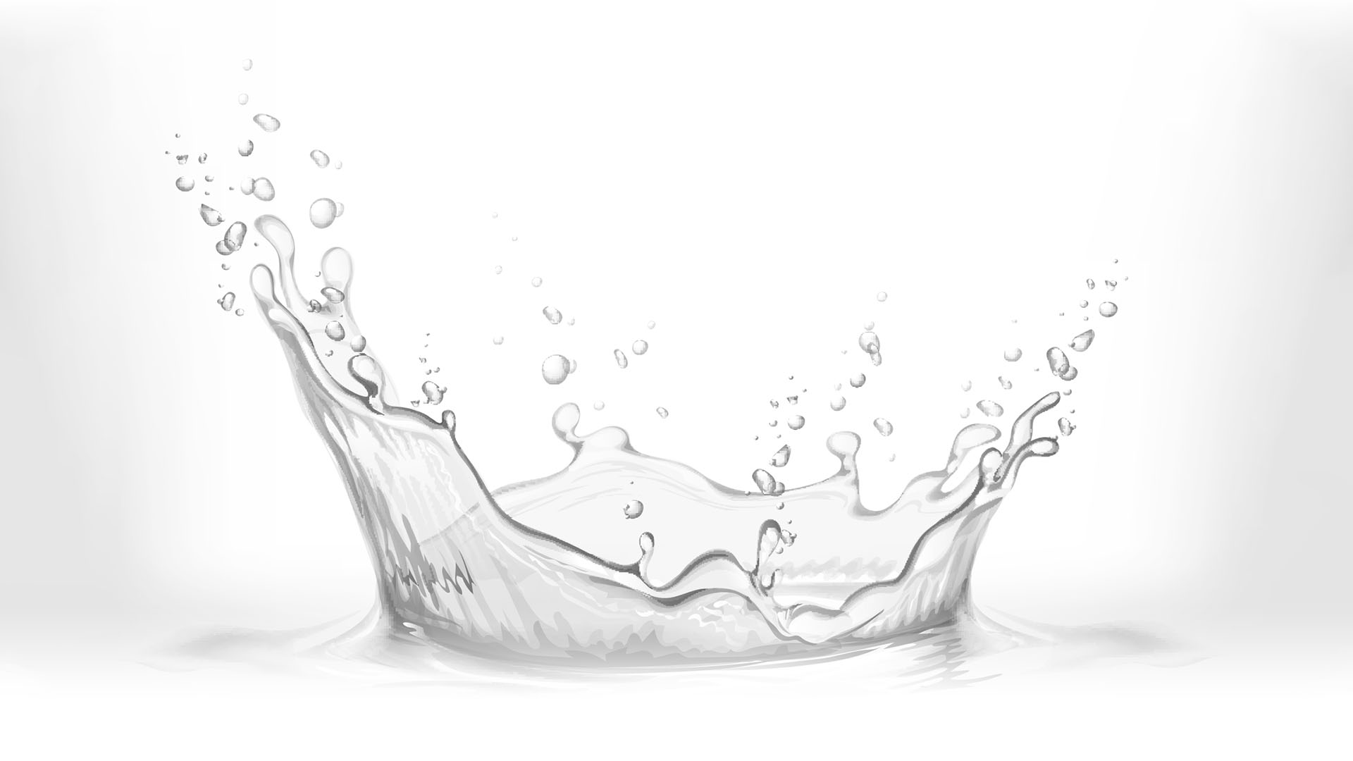 Splashing water in black and white.