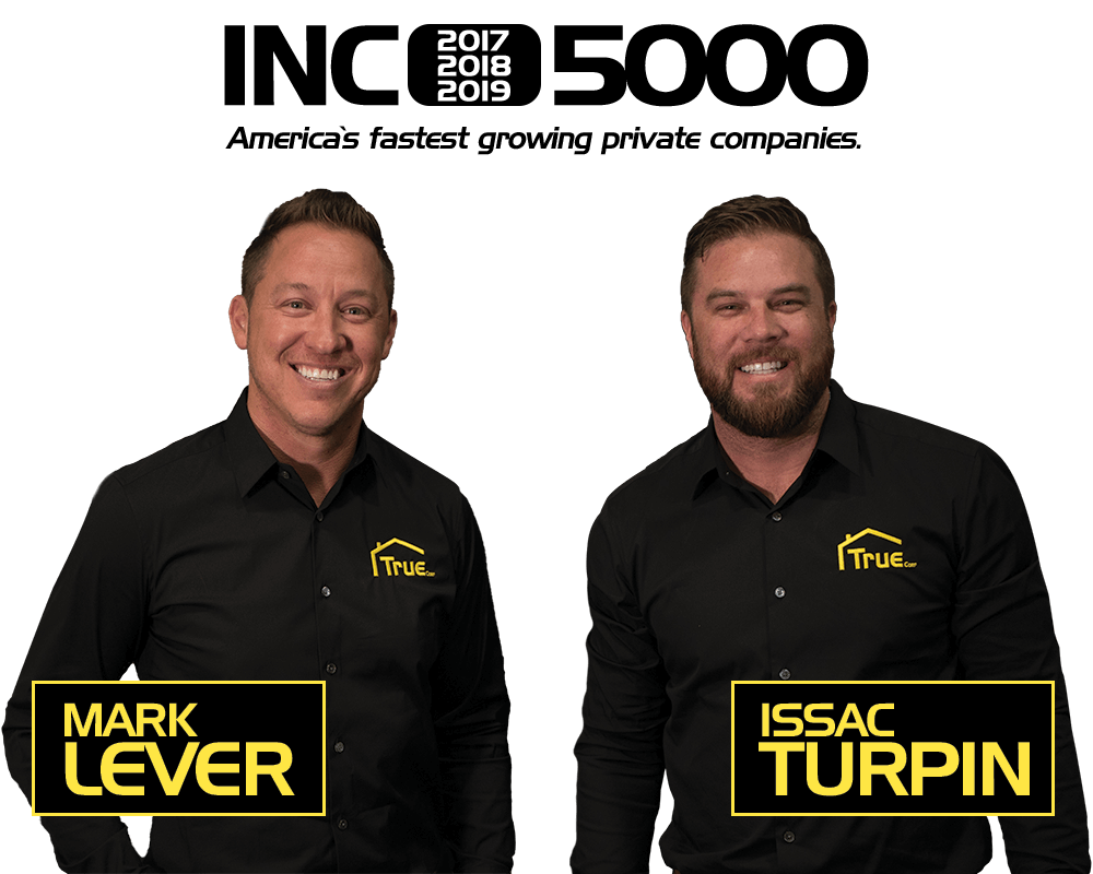 True Builders owners, Mark Lever and Issac Turpin.